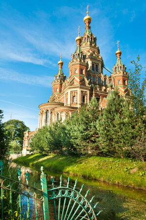 Sts Peter and Paul cathedral, Petergof, St Petersburg, Russia photo