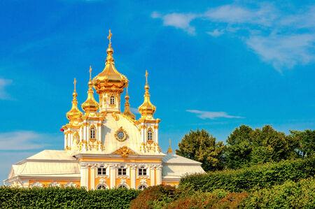 chapelle est en Peterghof, Saint-Pétersbourg, Russie
