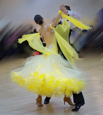 Ballroom dance in motion photo