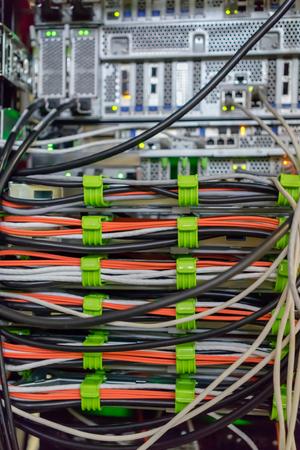 server side: A lot of cables on the back server back side