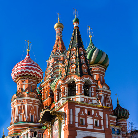 basil: St Basil Cathedral, Moscow, Russia Stock Photo