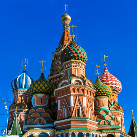 church architecture: St Basil Cathedral, Moscow, Russia Stock Photo