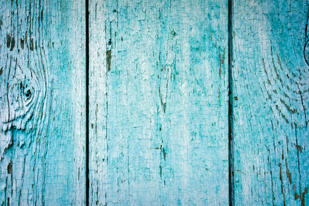 cerulean: signed by the weather as old blue wood background Stock Photo
