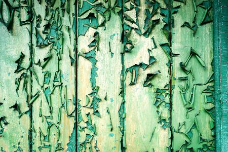 constructional: Painted wood green old aged texture