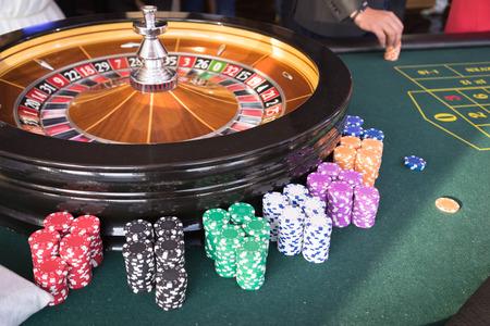 din�mica: A roleta din�mica no casino Banco de Imagens