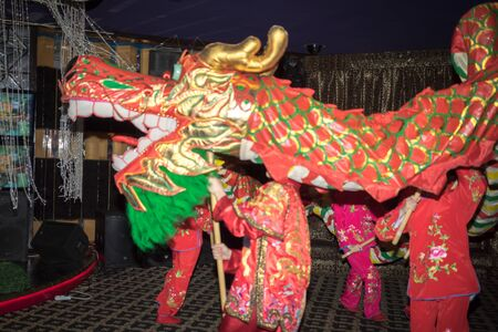 snake year: Chinese dragon during the Year of the lunar snake a traditional Chinese holiday
