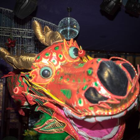 year of snake: Chinese dragon during the Year of the lunar snake a traditional Chinese holiday