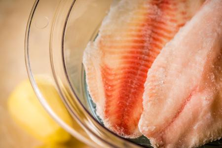 warm water fish: healthy fish on vapor close up