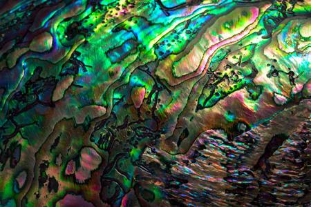 High magnification macro of pearl shell. Archivio Fotografico