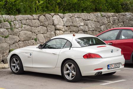 sportscar: Kotor, Montenegro - May 16, 2016: BMW Z4 Sportscar in a parking slot on the street Editorial