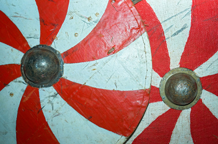 scarred: two shields close up view