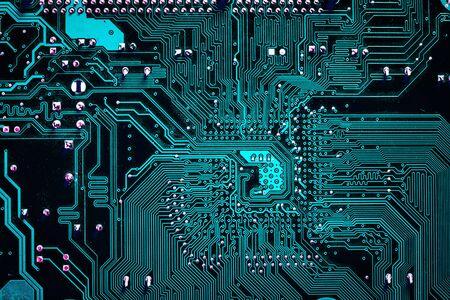 circuito electrico: blue tones electrical circuit macro Foto de archivo
