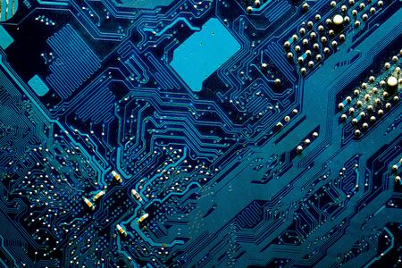Blue digital circuits abstract background Stock Photo