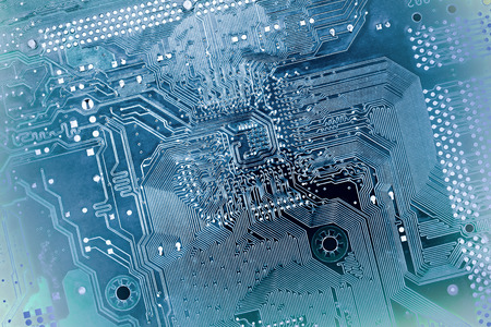 blue printed circuit board