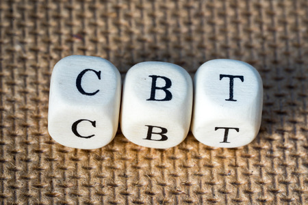 CBT word made from toy cubes with letters