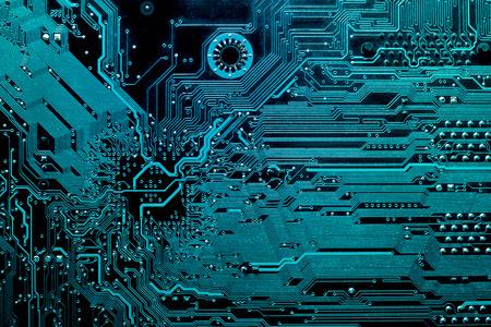 회사의 IT 사이트의 디자인에 대한 컴퓨터 마더 보드의 실루엣의 어두운 배경. 회로 기판. 전자 컴퓨터 하드웨어 기술. 마더 보드 디지털 칩. 스톡 콘텐츠