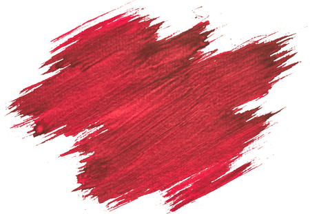 Red watercolor texture paint stain brush stroke Vectores