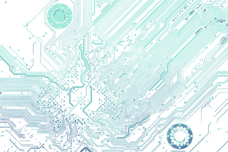 Back side circuit board, line pattern isolated on white background