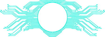 Abstract vector background with high tech circuit board. Microchip background with a symmetrical motherboard pattern frame and copy space for your text.  イラスト・ベクター素材