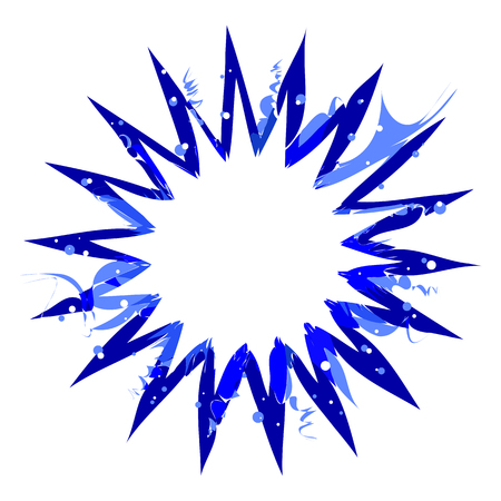 vector abstract radial burst. blue star explosion isolated on white background, with blank white copy space. radial sun burst or comic burst graphic design Фото со стока - 105587983