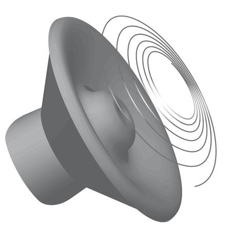 3d grey speaker icon isolated on white background. Illustration