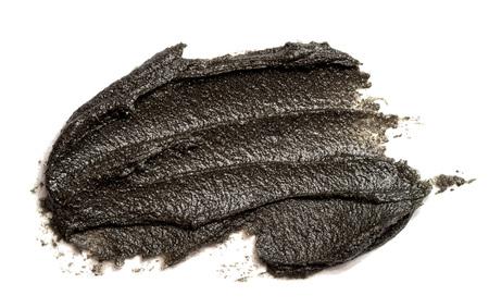 Zwart uitstrijkje van magnetisch gezichtsmasker