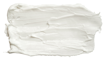 Smear of white face cream texture. Stock Photo