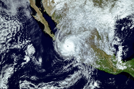 Hurricane Willa passed the Islas Marias as it closed in on Mexico's mainland,  Elements of this image furnished by NASA.2018.