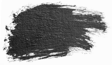 Black line, grunge brush strokes ink paint isolated on white Stock fotó
