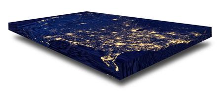Representation of a rectangular flat Earth model