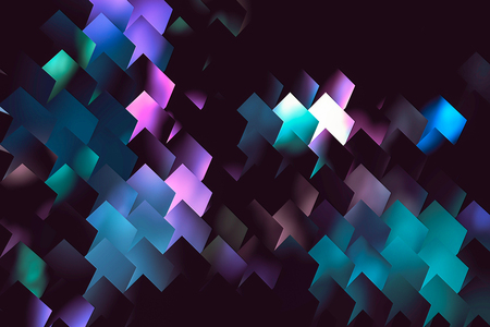 colorful light diagonal tiles background, form of cells for storing documents Stock Photo