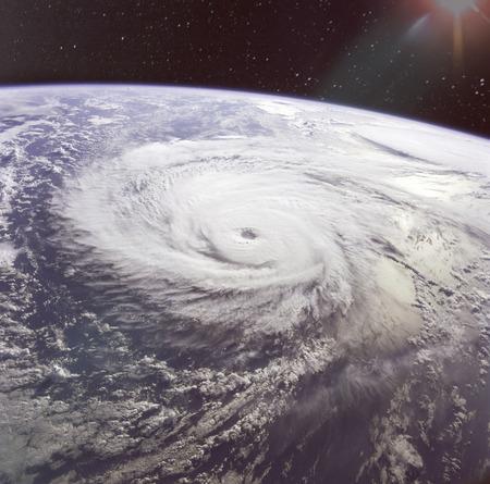 Giant hurricane seen