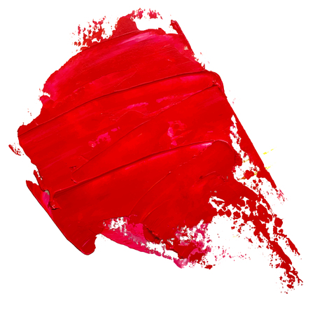 Template for your banner text - textured red oil paint brush stroke, looks like speech bubble, isolated on white