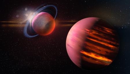 Fantastic extraterrestrial landscape.