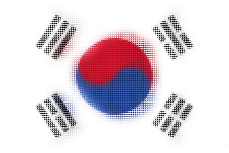 South Korea flag from heart mosaic.