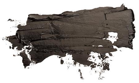 Black oil texture paint stain brush stroke EPS10 vector illustration