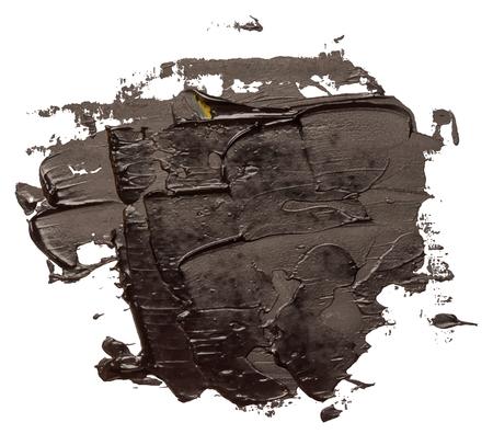 black oil stroke paint isolated on white background EPS10 vector illustration.