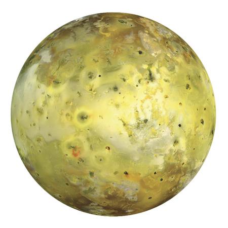 Io Jupiter moon isolated on white.