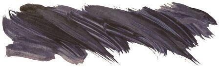 Rayures de pinceau acrylique noir isolés dessinés à la main