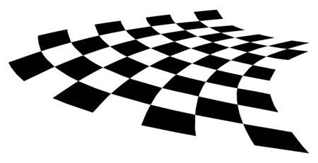 gebogene verzerrte Schachbrett-EPS10-Vektorillustration. Vektorgrafik