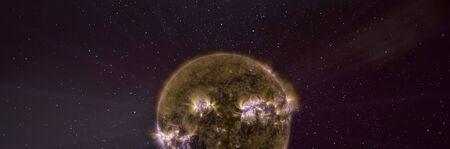 Sun star in outer space.