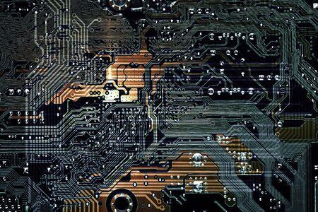 circuit board background of computer motherboard 写真素材