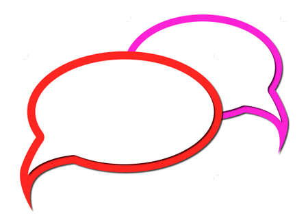 Speech bubbles overlapping with shadows design