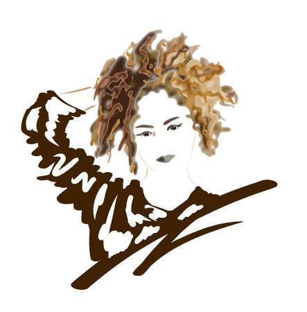 Fashion portrait of an abstract woman, eps10 layered vector illustration. Ilustrace