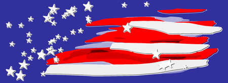 Abstract spots of strips and stars like USA flag  vector illustration.