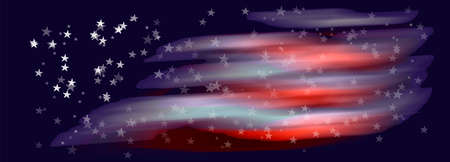Abstract backgroun from spots of strips and stars like USA flag eps10 vector illustration. Reklamní fotografie