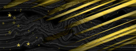 Yellow and black business background with diagonal stripes and stars.