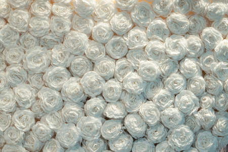 Beautiful white handcraft paper rose background