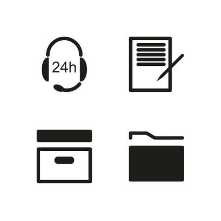 business symbols metaphors: Simple set of vector icons office.