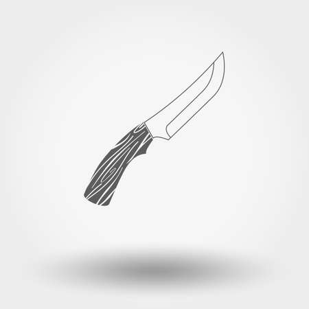 dirk: Web icon Hunting knife. Vector illustration on a white background. Illustration